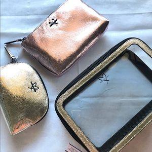 NWT Victoria Secret 3 Piece Cosmetic Bag Set